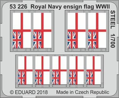 Royal Navy WWII Ensign Flag Steel Eduard Photoetch 1:700