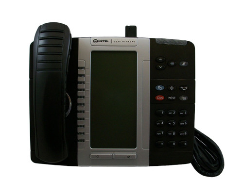 Mitel 5330 IP Phone 50005804 w/ Cordless Handset & Accessories Module 50005711