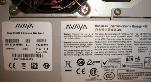 Avaya BCM450 6.0 NTC03100SWE6