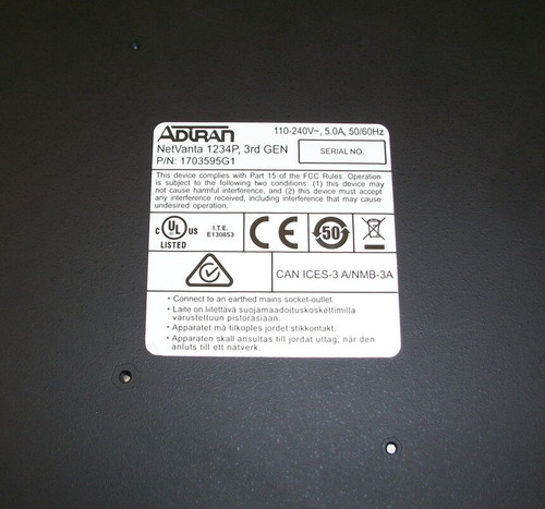 Adtran NetVanta 1234P 1703595G1