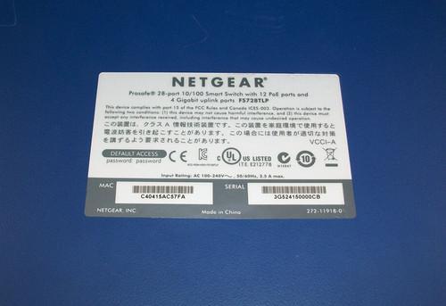 NetGear ProSafe FS728TLP V1 28 Port Smart Switch 12 PoE and 4 Gigabit Ports