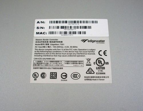 ShoreTel VPN Concentrator Model 7301 120-7301-01-A