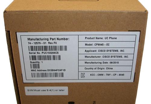 Cisco Unified IP Phone 8945, Standard Handset CP-8945-K9