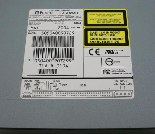 Plextor PX-W4012TS CD-RW Drive TLA1040