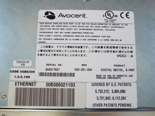 Avocent DS1800 520-221-004