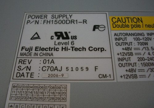 Fuji Electric Power Supply FH1500DR1-R