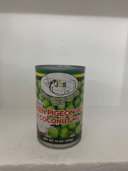 JCS Green Pigeon Peas in Coconut Milk 15 oz