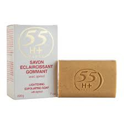 55 H+ Lightening Exfoliating Soap with Apricot 200g
