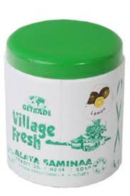 Village Fresh Traditional Herbal Soap 500g Jar lemon