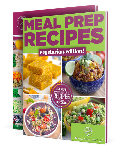 Image of the ebooks included in the Vegetarian Meal Prep Package