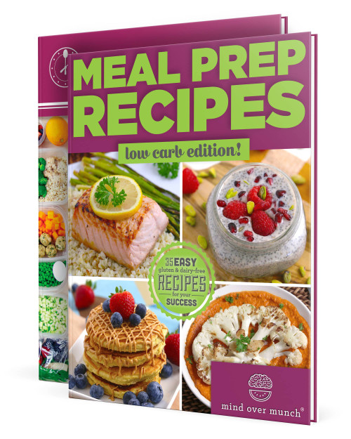 Image of the ebooks included in the Low Carb Meal Prep Package