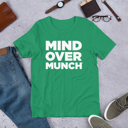 Mind Over Munch Block Text Short Sleeve T-Shirt - 10 different colors!