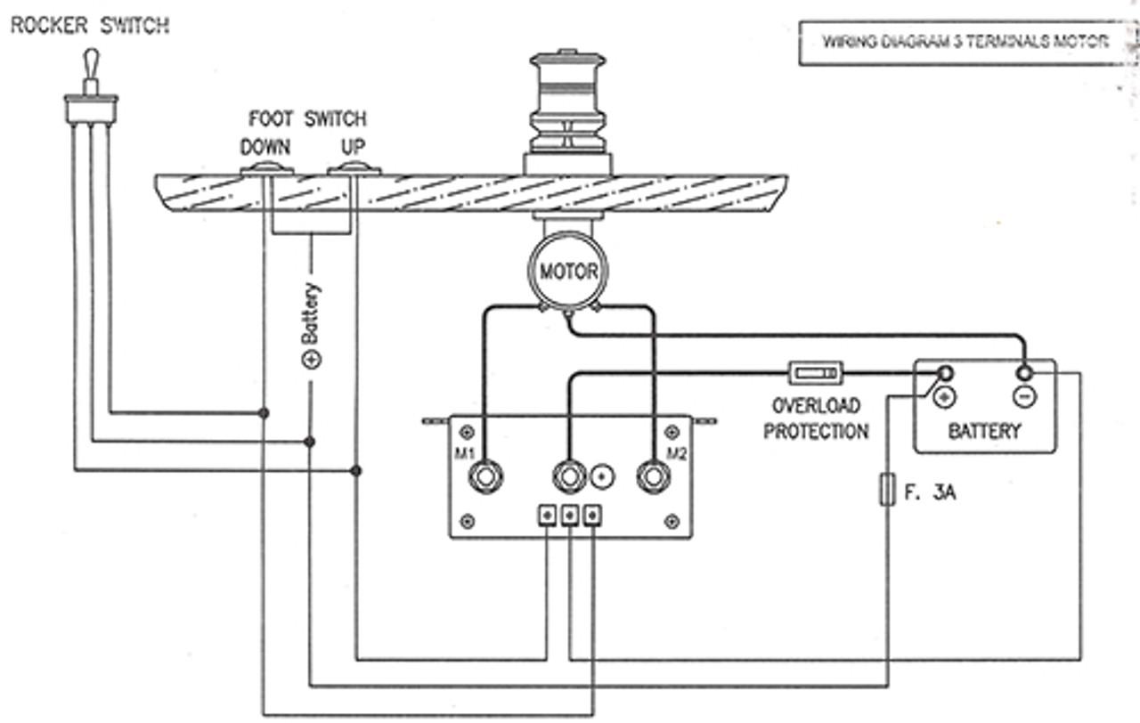 lofrans tigres marine windlass 12vdc 1500w lw415an VHF Antenna Wiring Diagram wiring diagram for 3 terminal motors lw415an
