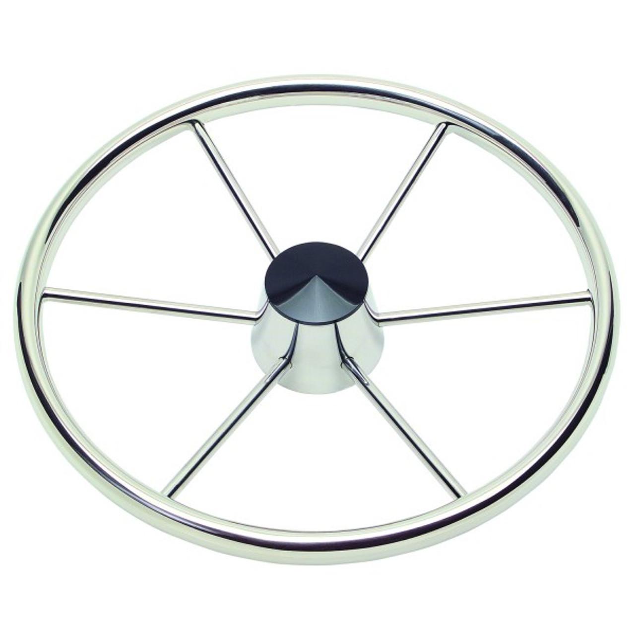 Schmitt Model 150 Destroyer Boat Steering Wheel 15 5 30 Diameter 6 Spoke 1 Straight Shaft Seatech Marine Products Inc