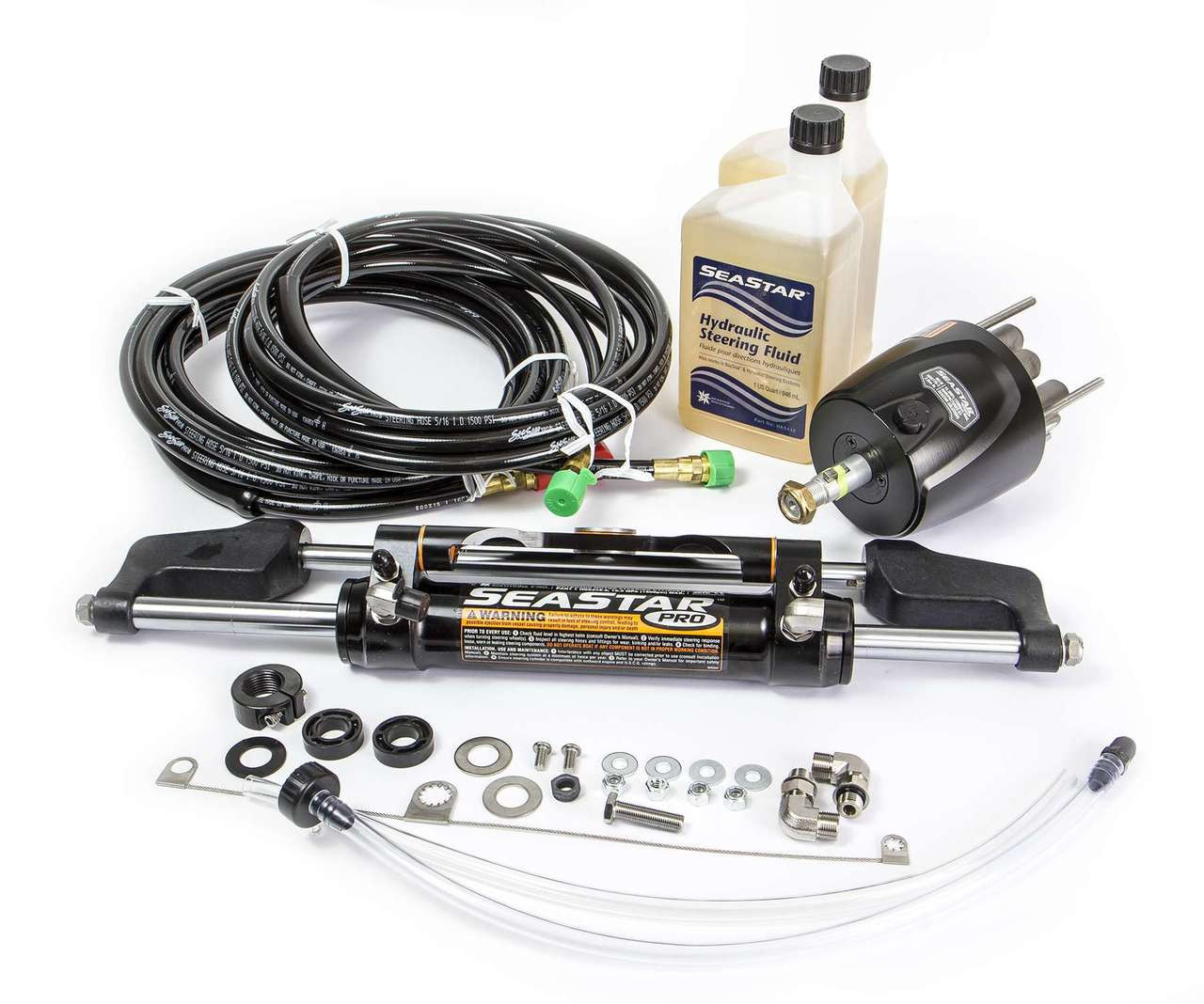 SeaStar HK7520A-3 PRO Hydraulic Steering System Kit w/ 20ft Hoses