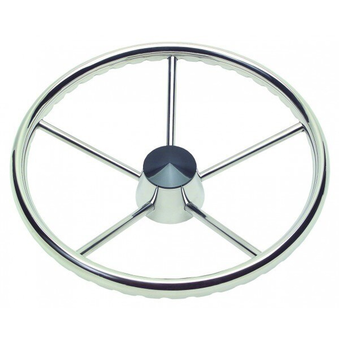 "Ongaro 170 13.5/"" Stainless 5-Spoke Destroyer Wheel w// Stainless Cap and FingerGr"