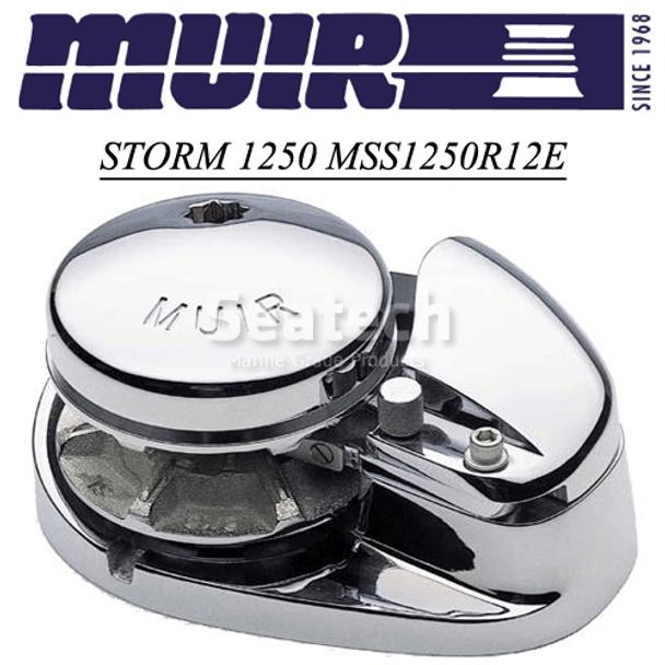 Muir Storm 1250 Low Profile 12V Windlass MSS1250R12E