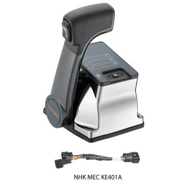 NHK MEC KE4+ KE401A Add a Station Kit - Single Engine Chrome Control Head -  Push to Tilt Button - Composite Handle