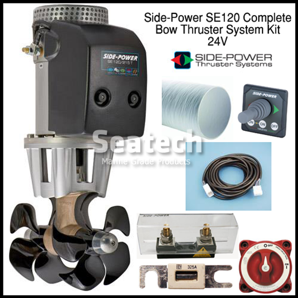 Side-Power SE120 Complete Bow Thruster Kit