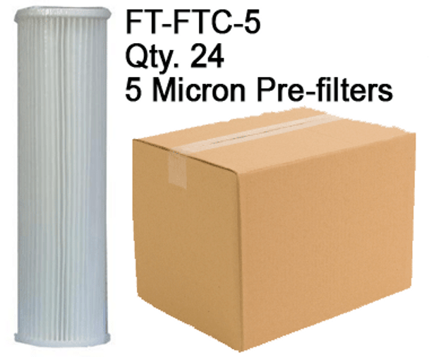 Spectra 5 Micron Pre-filters FT-FTC-5 Case of 24