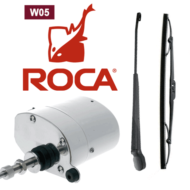 "Roca RC521012 W5 Wiper Motor Kit (Motor, 11-14"" arm, 11"" blade) 24V"