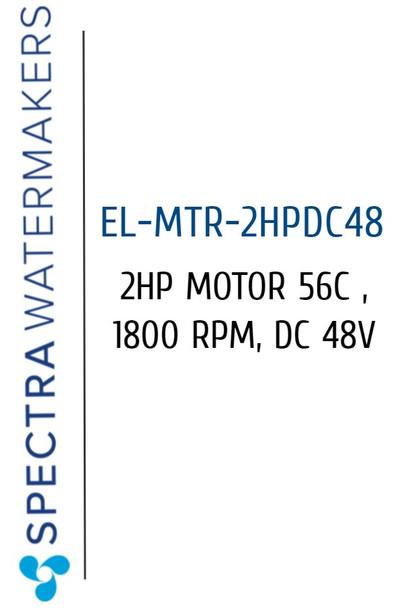Spectra EL-MTR-2HPDC48 2HP Motor 56C 1800 RPM DC 48V