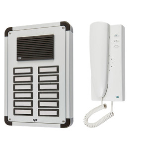 12 Way Audio Door Entry System, Surface or Flush Mounted with an Aluminium Finish