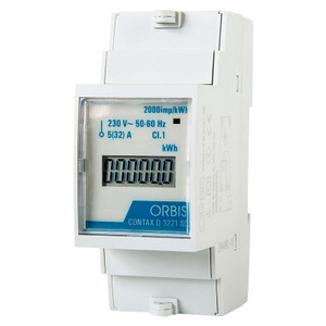 Single Phase Digital Energy Meter, DIN Rail, Two Module Wide, 32A