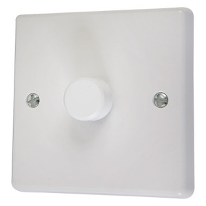 Dimmer Switch,  Mains - 1000 Watt, White