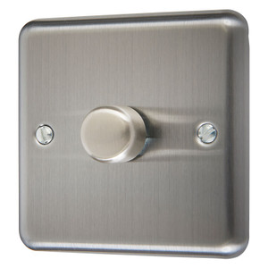 Dimmer Switch, Mains - 1000 Watt, Chrome