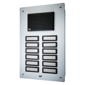 12 Way Replacement Panel for the DPK12 Audio Door Entry System, Surface or Flush