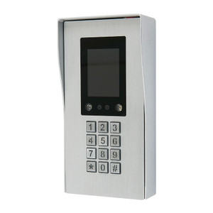 Aluminium alloy, blush processing facial recognition coded access  panel with backlit  keypad
