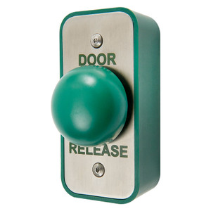 Green Dome Door Release Exit Button, Stainless Steel