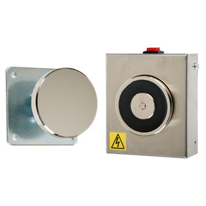 Magnetic Door Retainer, 240V AC, Stainless Steel