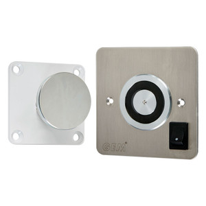 Magnetic Door Retainer with Over-Ride Switch, 12V DC, Flush