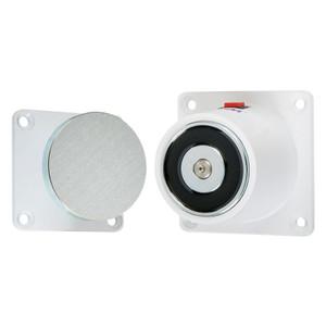 Magnetic Door Retainer, White powder-coat finish
