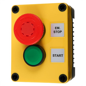 Combined Emergency Stop/Start Command Switch