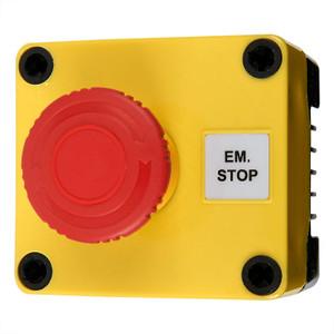 Emergency Stop Switch, Push-Twist, 10A