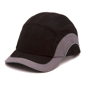 Bump Cap, 5cm Peak, Black/Grey