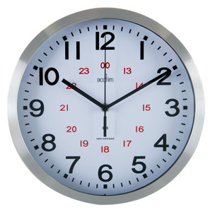 Radio Controlled Clock, 225mm dia,  12/24 Hour Dial