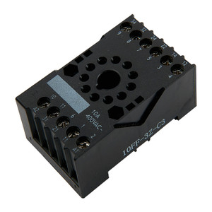 Relay Base, 11 Pin 3 Pole, High current rating - 10A @ 250V AC/30V DC