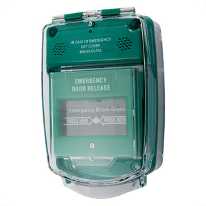 Reset Call Point with Vandal Resistant Protective Cover, Green