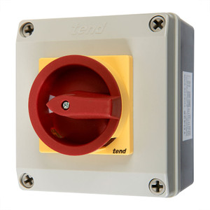 4 Pole Rotary Isolator, 25A, Polycarbonate Body