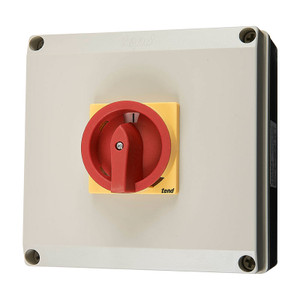 4 Pole Rotary Isolator, 63A, Polycarbonate Body
