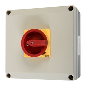 4 Pole Rotary Isolator, 80A, Polycarbonate Body