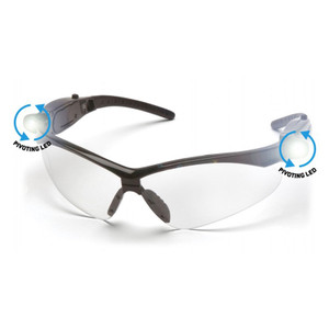 Safety Glasses W/Twin Led Light (3 Lumens per light)