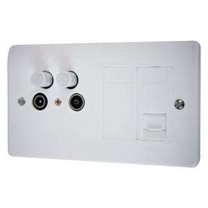 Shielded Triple Co-axial Socket