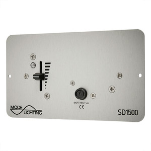 Slide Dimmer Mains 1500W  Brushed Aluminium Finish