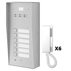6 Way Audio Door Entry Kit, ACO Door Entry Systems