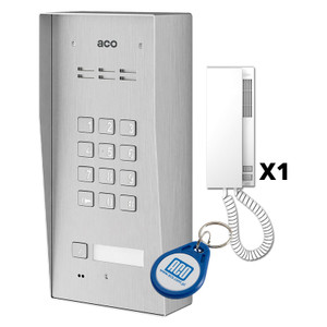 1 Way Audio Door Entry Kit, Panel with Keypad - ACO Door Entry Systems